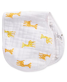 aden by aden + anais Baby Boys & Girls Giraffe- & Elephant-Print Cotton Burpy Bib