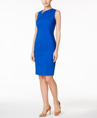 Calvin klein blue zipper dress
