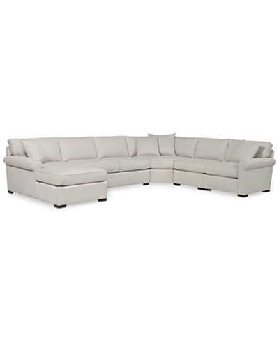 Astra 5-Piece Sectional with Chaise, Created for Macy's