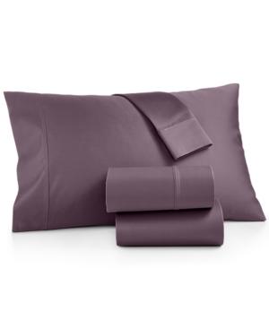 Aq Textiles Bergen Certified Egyptian Cotton Sateen 1000Thread Count 4Pc Full Sheet Set Bedding