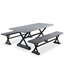Kelson 3-Pc. Picnic Table Set, Quick Ship