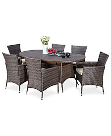 Chiese 7-Pc. Dining Set, Quick Ship