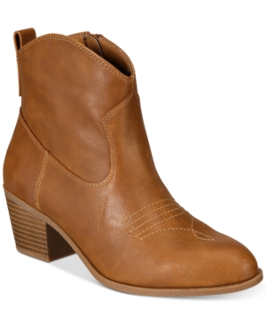 Style & Co Mandyy Western Booties, Created for Macy