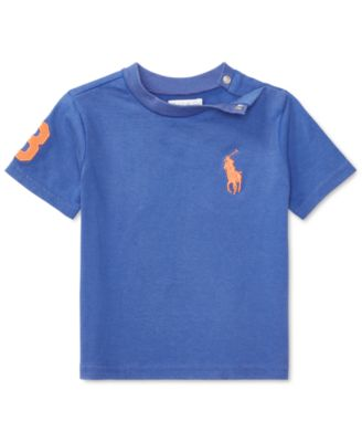 Image of Ralph Lauren Cotton T-Shirt, Baby Boys (0-24 months)