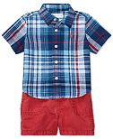 Ralph Lauren Plaid Shirt & Twill Shorts Set, Baby Boys (0-24 months)