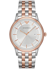 Emporio Armani Men's Lambda Two-Tone Stainless Steel Bracelet Watch 43mm AR11044