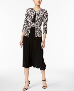Jessica Howard Petite Midi Dress & Printed Jacket 4769961