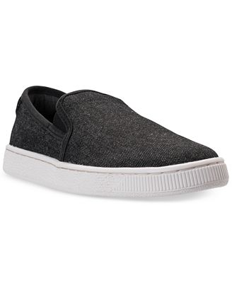 Puma Men's Basket Classic Slip-On Denim Casual Sneakers from Finish Line