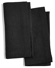 Modern Black 2-Pc. Linen Napkin Set, Created for Macy's