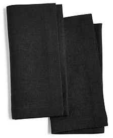 Hotel Collection Modern Black 2-Pc. Linen Napkin Set, Created for Macy's