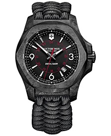 Men's I.N.O.X. Carbon Black Paracord Strap Watch 43mm