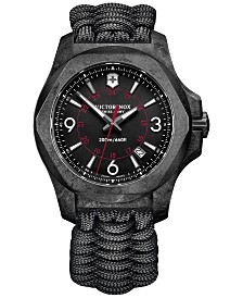 Victorinox Swiss Army Men's I.N.O.X. Carbon Black Paracord Strap Watch 43mm