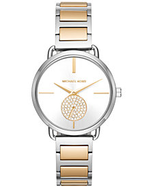 Michael Kors Women's Portia Two-Tone Stainless Steel Bracelet Watch 37mm MK3679