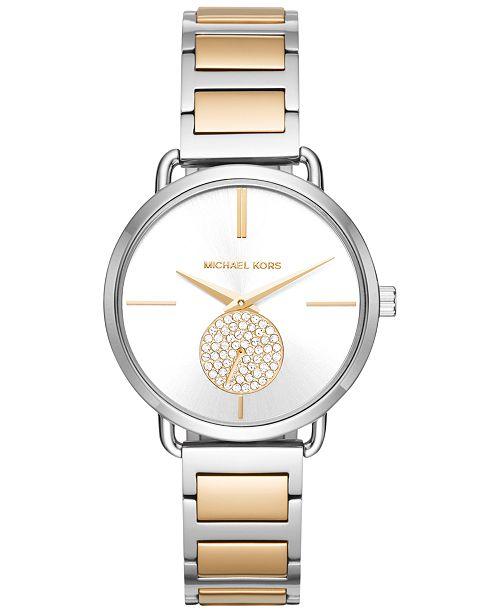 ... Michael Kors Women s Portia Two-Tone Stainless Steel Bracelet Watch  37mm MK3679 ... cc519c07c