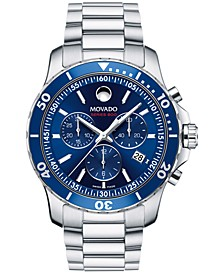 Men's Swiss Chronograph Series 800 Performance Steel Bracelet Diver Watch 42mm