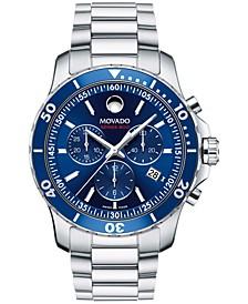 Men's Swiss Chronograph Series 800 Performance Steel Bracelet Watch 42mm 2600141