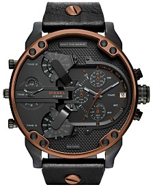 Diesel Men's Chronograph Mr. Daddy 2.0 Leather Strap Watches