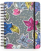 Vera Bradley Falling Flowers Medium 17-Month Agenda