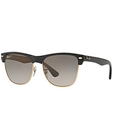 Ray-Ban Polarized Clubmaster Oversized Sunglasses, RB4175 57