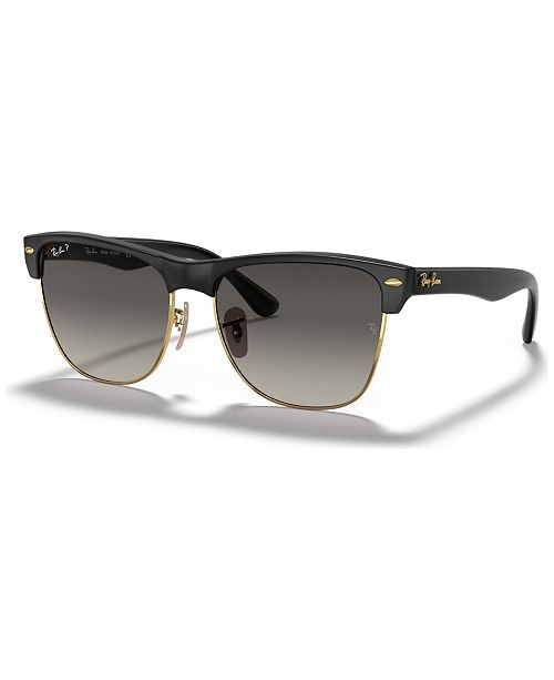 Ray-Ban Polarized Sunglasses, RB4175 CLUBMASTER OVERSIZED ... 4e1195e9b061