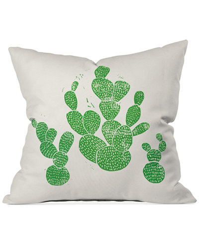 Deny Designs Bianca Green Linocut Cacti 1 Family 16