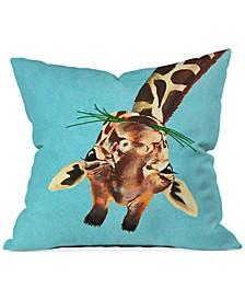 "Coco de Paris Giraffe Upside Down 16"" Square Decorative Pillow"