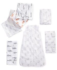aden by aden + anais Baby Boys & Girls Elephant-Print & Zebra-Print Collection