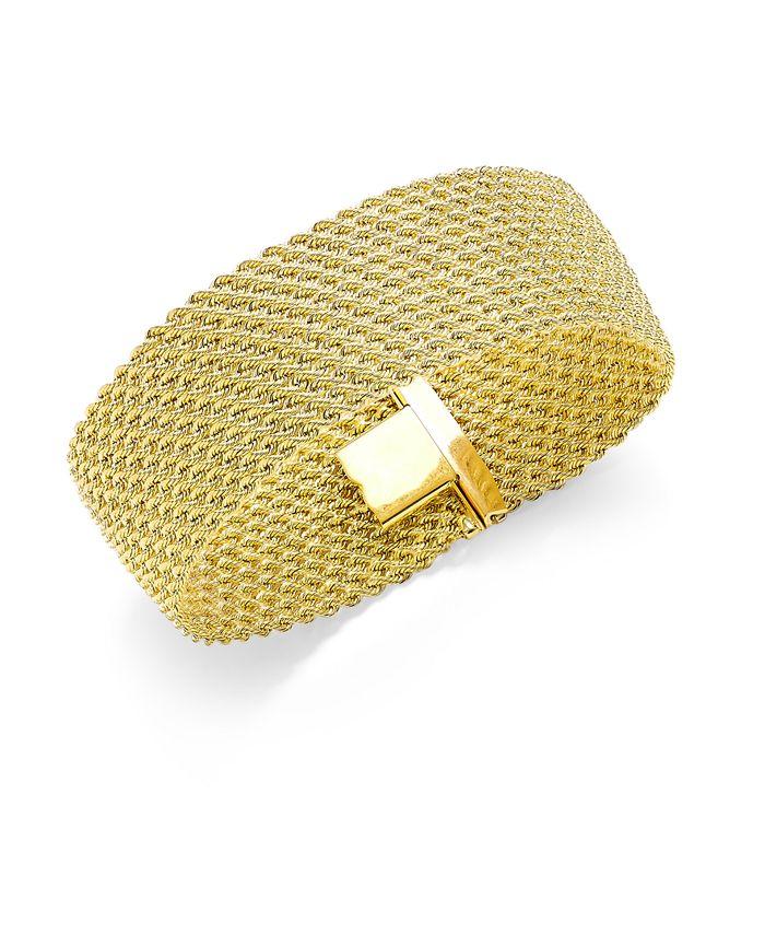 """Italian Gold - """"El Dorado"""" Link Bracelet in 14k Gold"""