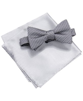mens ties designer mftm  Alfani Men's Richmond Geometric Bow Tie & Pocket Square Set, Only at Macy's
