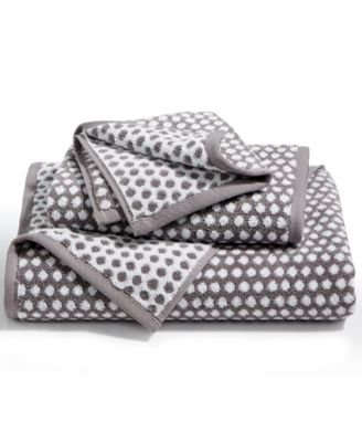 Elite Cotton Fashion Dot Hand Towel, Created for Macy's