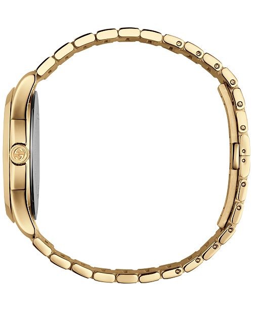 2126f955f10 ... Gucci Unisex Swiss G-Timeless Gold-Tone PVD Stainless Steel Bracelet  Watch 38mm YA126461 ...
