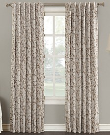 "Kalanie Floral 50"" x 95"" Blackout Lined Back-Tab Curtain Panel"