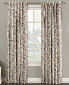 "Sun Zero Kalanie Floral 50"" x 84"" Blackout Lined Back-Tab Curtain Panel"