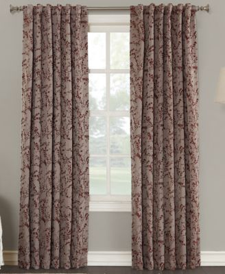 "Kalanie Floral 50"" x 84"" Blackout Lined Back-Tab Curtain Panel"