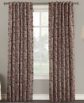 "Sun Zero Kalanie Floral 50"" x 95"" Blackout Lined Tab Top Curtain Panel"
