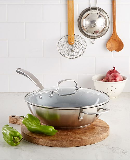 Martha Stewart Collection 4-Qt. Chef's Pan, Created for Macy's
