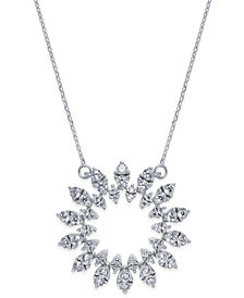 Diamond Sun Pendant Necklace (1-1/2 ct. t.w.) in 14k White Gold
