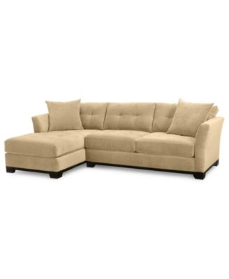 Elliot 2 Piece Fabric Microfiber Chaise Sectional Sofa   Custom Colors,  Created For Macyu0027s