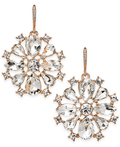 Charter Club Crystal Drop Earrings, Created for Macy's