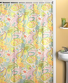Creative Bath Cool Paisley Shower CurtainShower Curtains   Macy s. Yellow And Teal Shower Curtain. Home Design Ideas