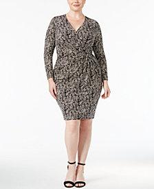 Anne Klein Plus Size Printed Wrap Dress