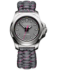 Victorinox Swiss Army Women's I.N.O.X. Gray Paracord Strap Watch 37mm