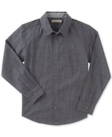 Calvin Klein Chambray Cotton Shirt, Big Boys