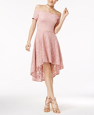 City Studios Juniors Off The Shoulder Fit Flare Dress Dresses