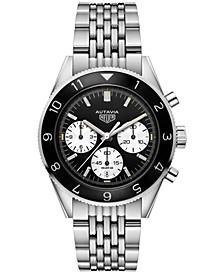 Men's Swiss Automatic Chronograph Autavia Calibre HEUER02 Stainless Steel Bracelet Watch 42mm