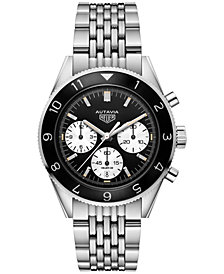 TAG Heuer Men's Swiss Automatic Chronograph Autavia Calibre HEUER02 Stainless Steel Bracelet Watch 42mm