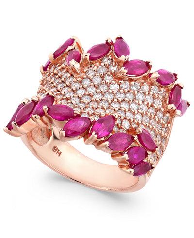 Rosa By Effy Ruby 3 1 4 Ct T W Amp Diamond 1 3 8 Ct T