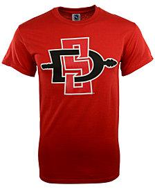 New Agenda Men's San Diego State Aztecs Big Logo T-Shirt