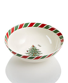 Spode Candy Cane Bowl, Created for Macy's