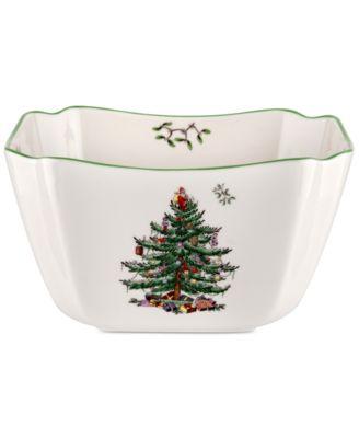 Christmas Tree Small Square Bowl